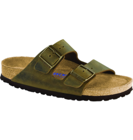 Birkenstock Arizona Sandal Soft Footbed Jade Oiled Leather