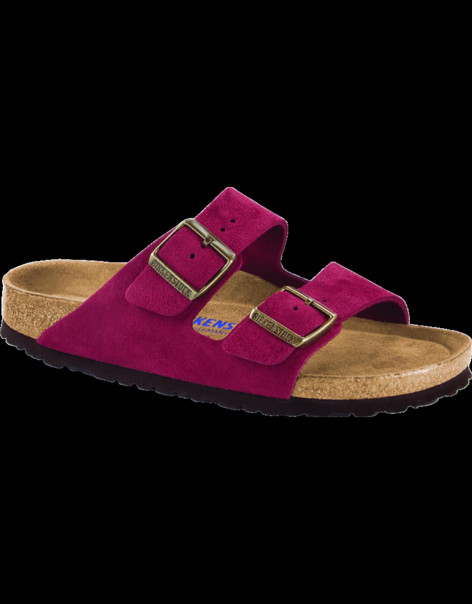 Birkenstock Arizona Sandal Soft Footbed Antique Port Suede