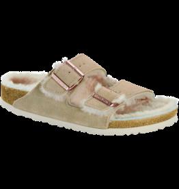 Birkenstock Birkenstock Arizona Suede Nude Shearling Sandal