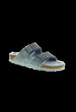 Birkenstock Birkenstock Arizona Suede Gray Shearling Sandal