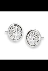 Tree of Life Post Earring