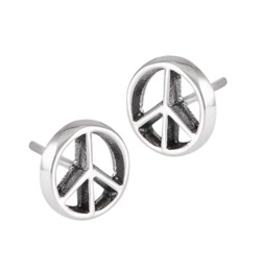 Peace Sign Post Earring