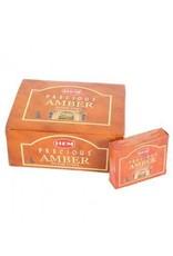 HEM Precious Amber Incense Cones