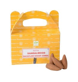 Satya Sandalwood Backflow Incense Cones