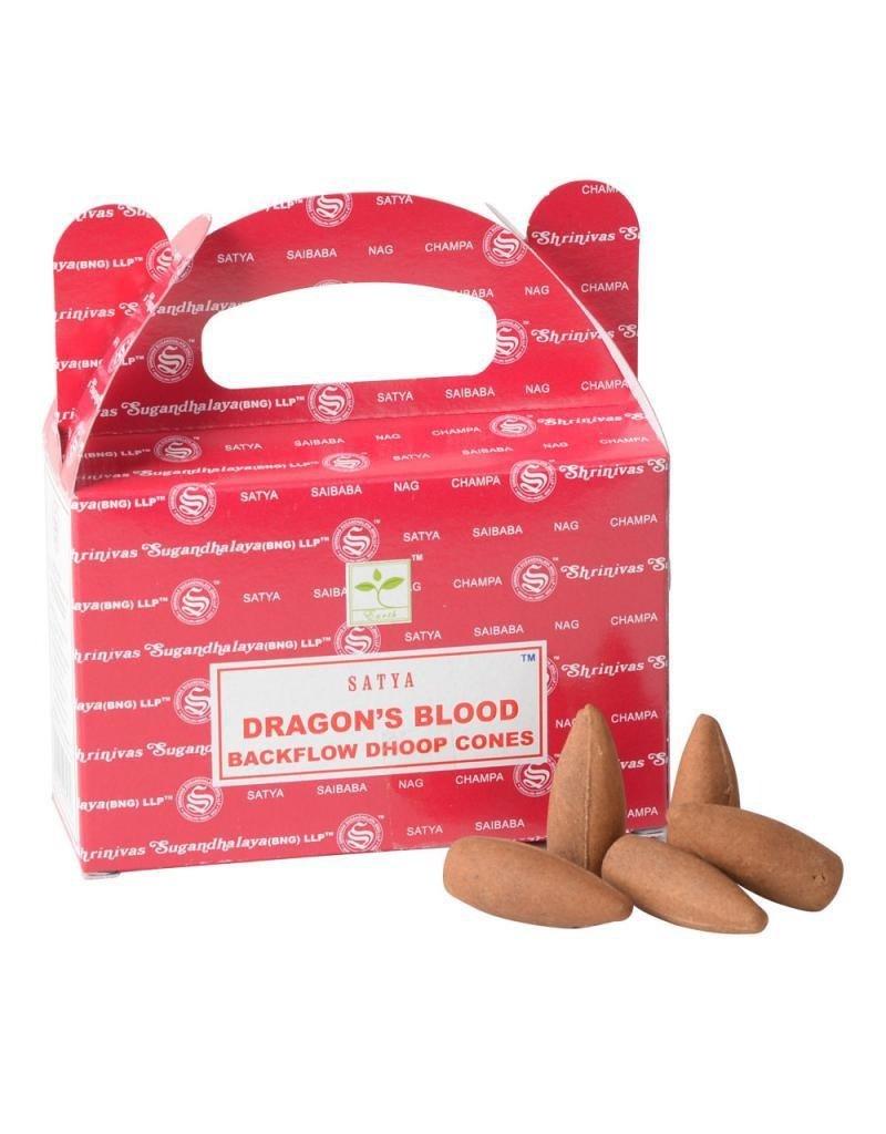 Satya Dragon's Blood Backflow Incense Cones