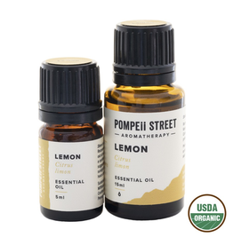 Pompeii Organic Lemon Essential Oil 15ml
