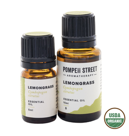 Pompeii Organic Lemongrass Essential Oil 15ml