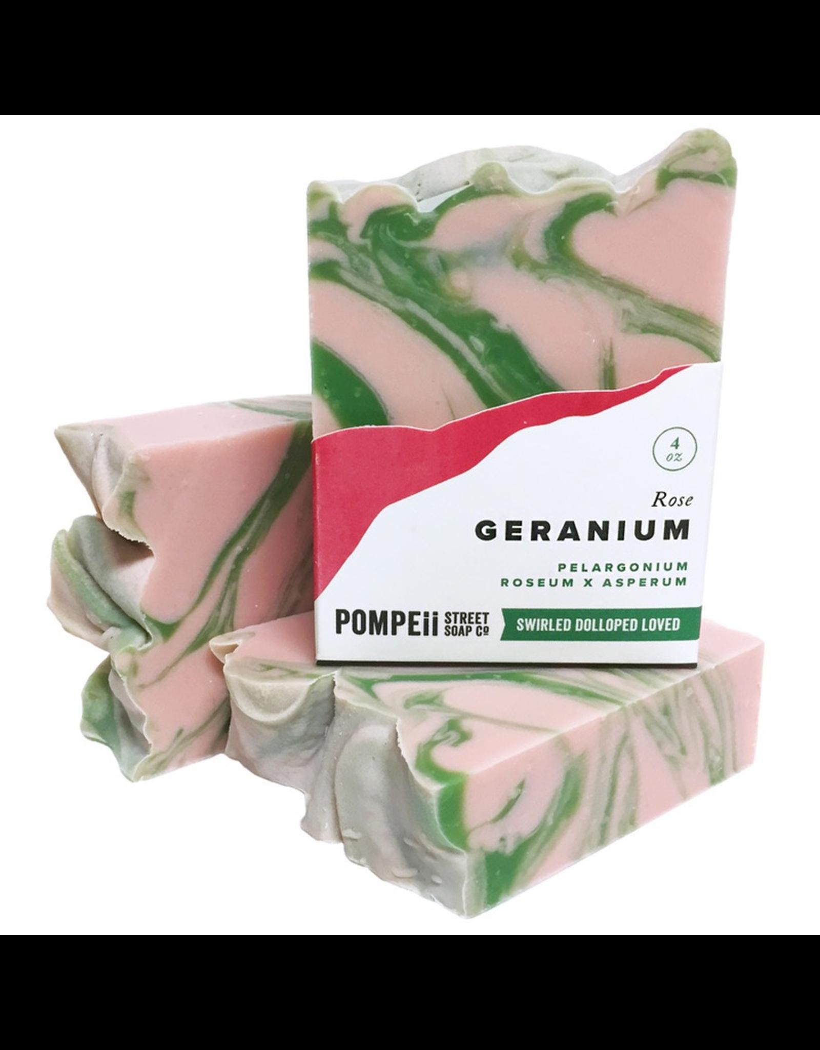 Rose Geranium Soap 4 oz.
