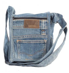 Small Crossbody Recycled Jean Bag