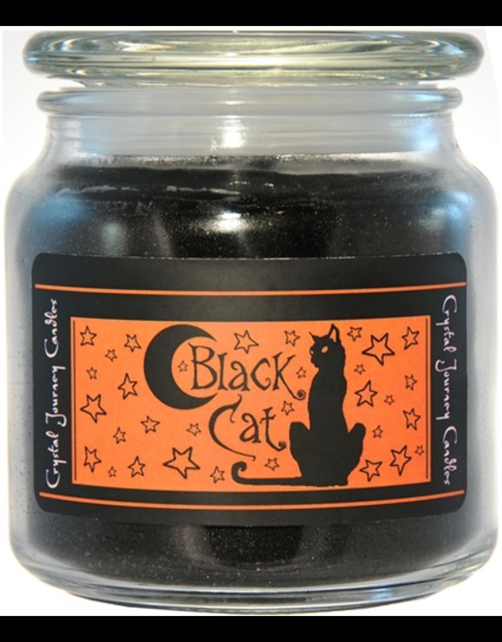 Crystal Journey 16 oz Black Cat Jar Candle