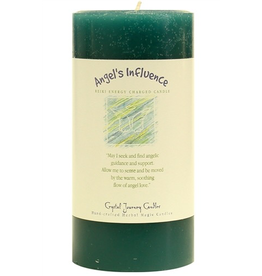 Crystal Journey Angel's Influence 3x6 Pillar Candle