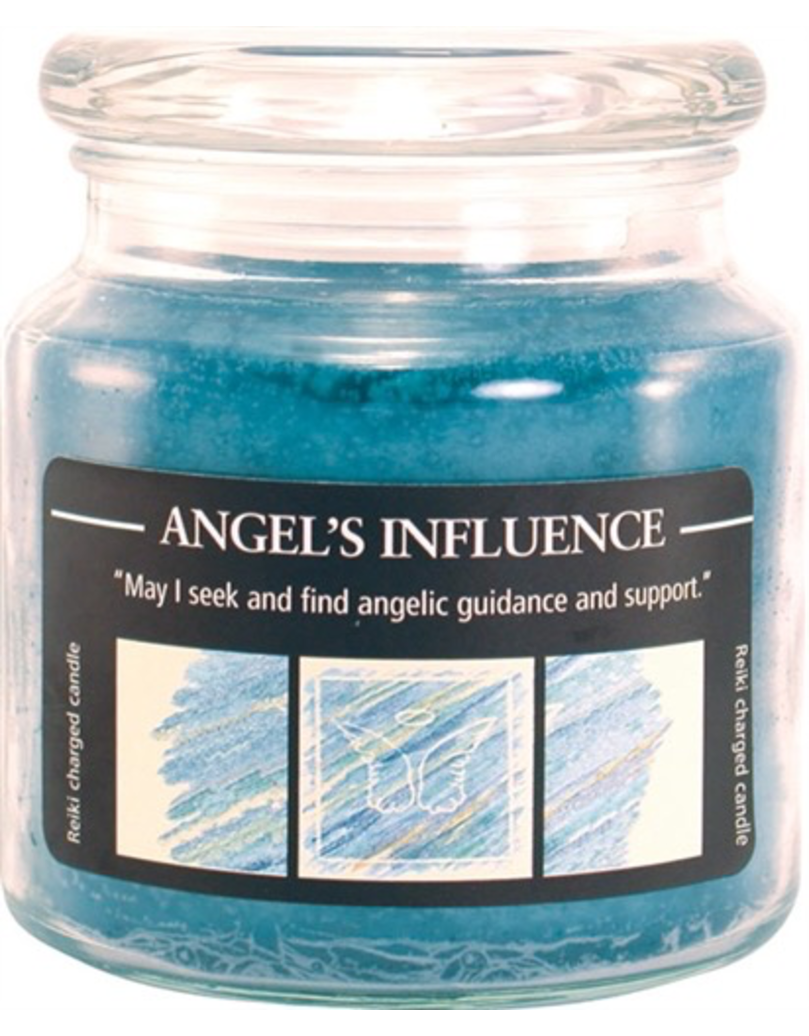 Crystal Journey 16 oz Angel's Influence Jar Candle