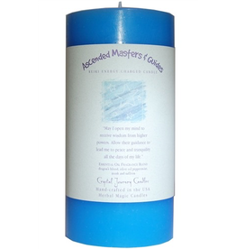 Crystal Journey Ascended Masters 3x6 Herbal Pillar Candle