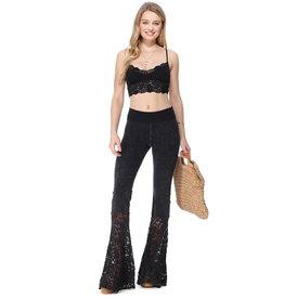 Lace Block Yoga Pants