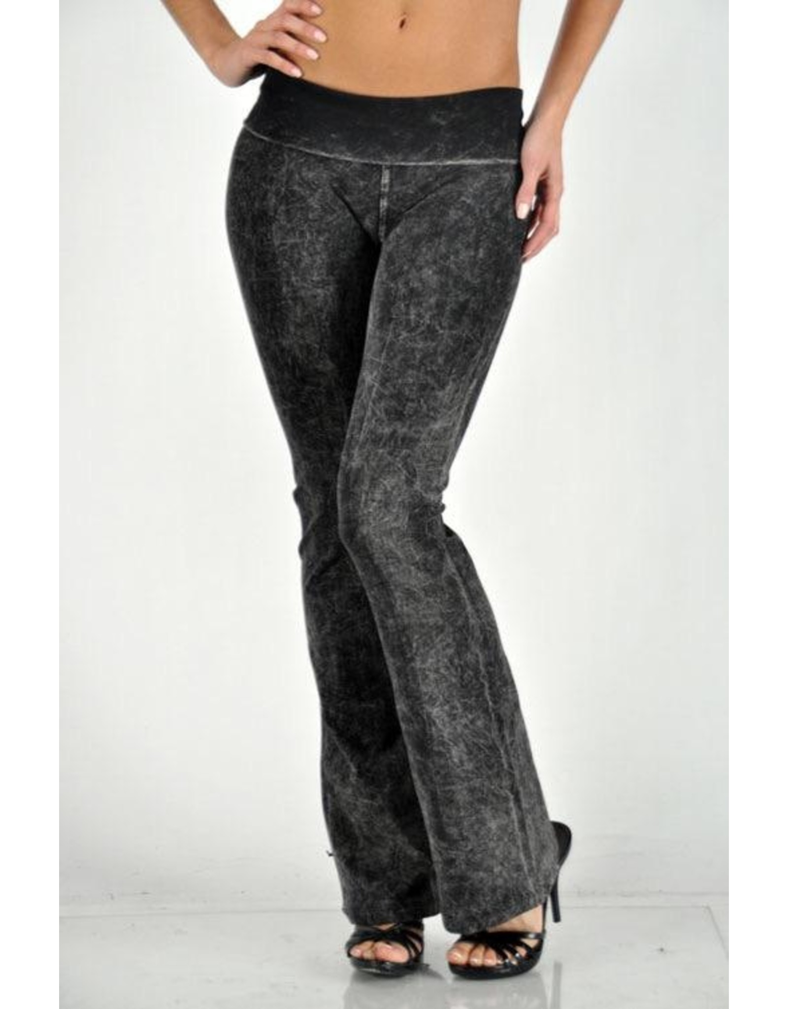 Mineral Wash Yoga Pant with Bell