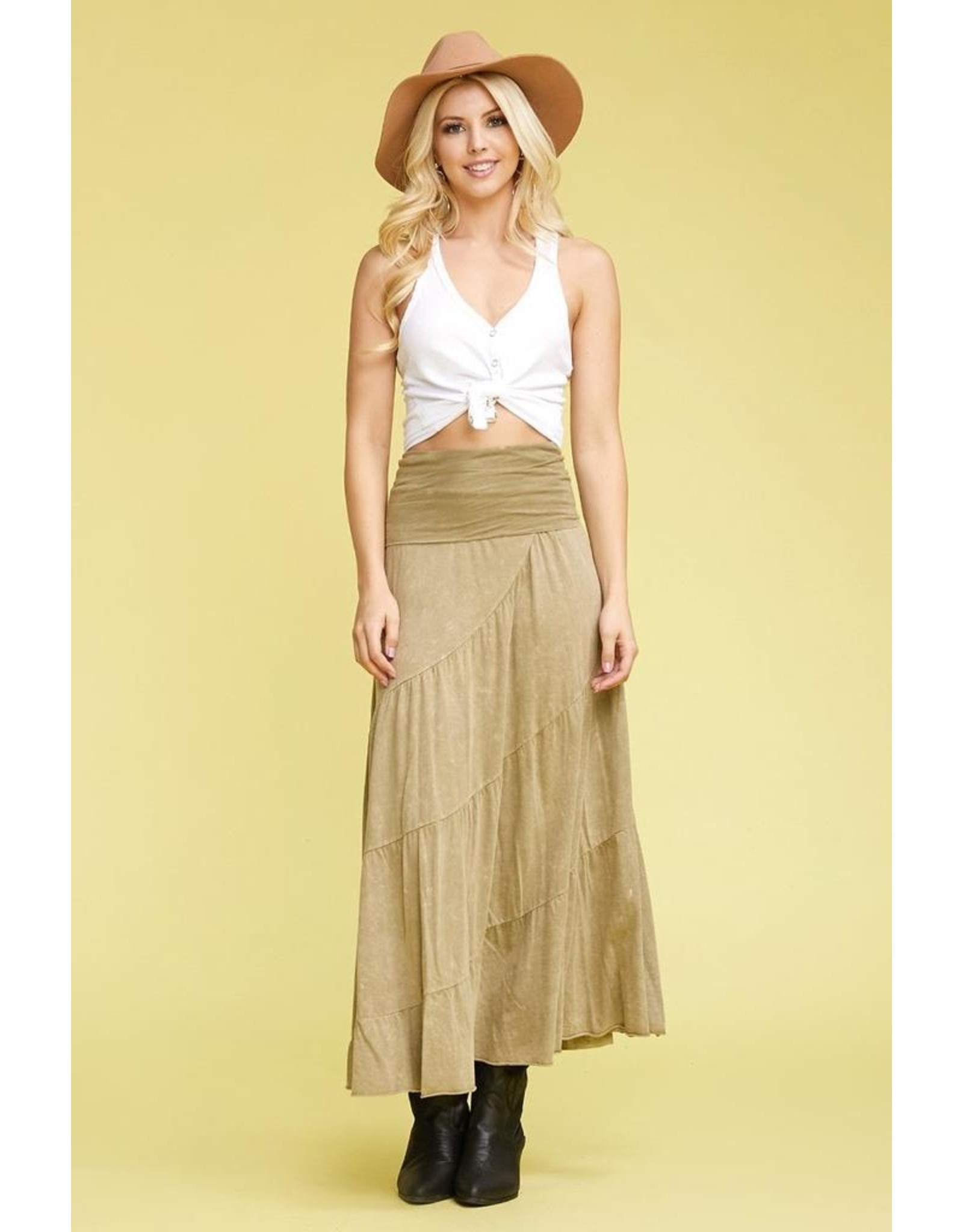 Multi Tier Skirt Foldable Waistband