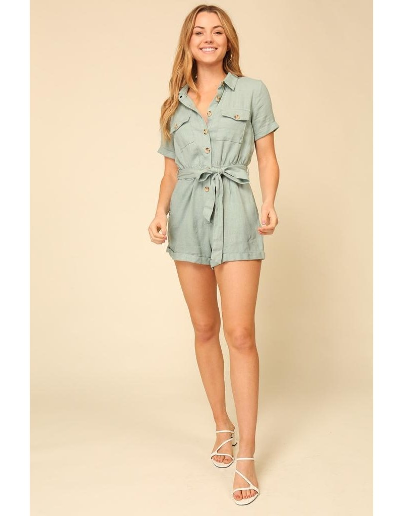 Timing Double Pocket Romper