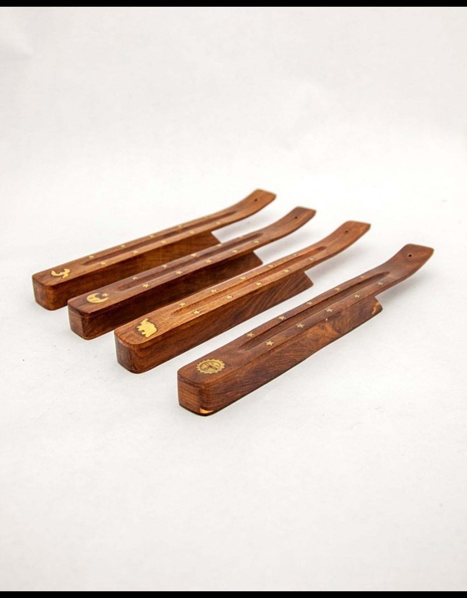 Shisham Wood Box Ash Catcher with Brass Inlay