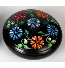 Soapstone Colored Flower Incense Burner