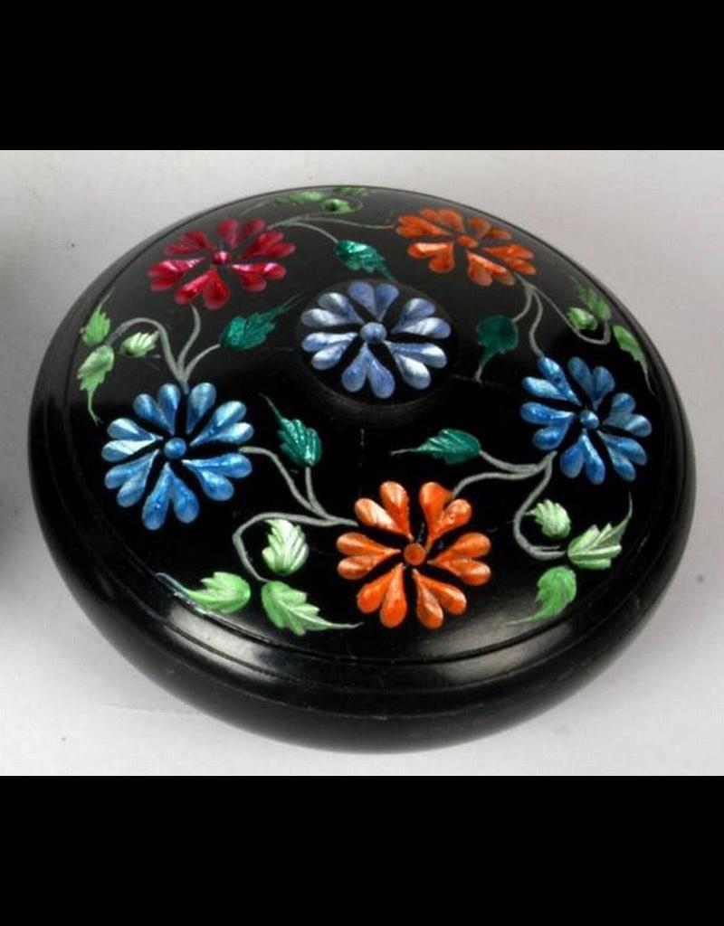 Soapstone Colored Flower Incense Burner