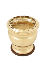 Brass Sand Burner with Wood Plate