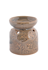 Green Flower Ceramic Oil Burner