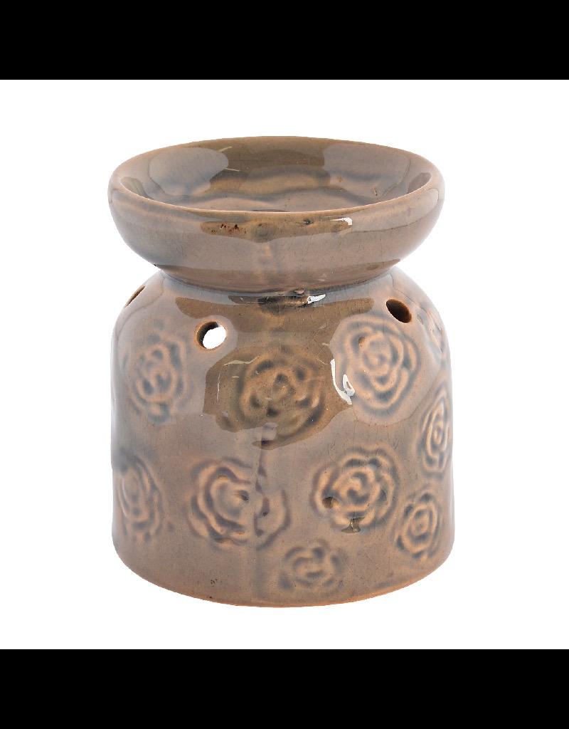 Green Flower Ceramic Oil Burner