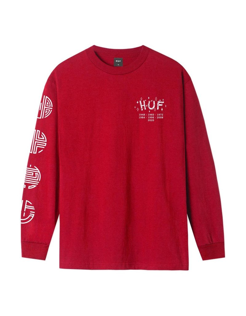 HUF Worldwide Year of the Rat L/S Tee-Red