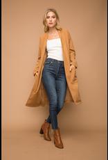 Hem & Thread Brushed Felt Oversized Coat