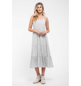 Ditsy Floral Print Midi Dress