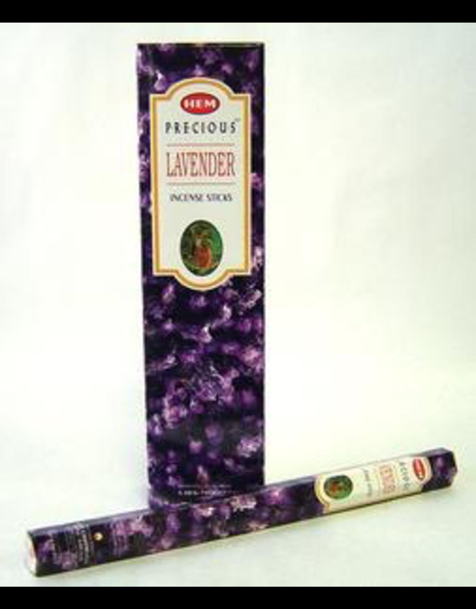HEM 20 Gram Precious Lavender Hex Box Incense