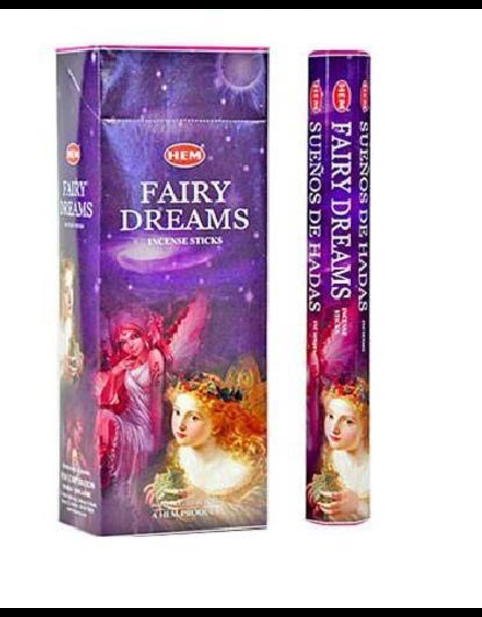 HEM 20 Gram Fairy Dreams Hex Box Incense