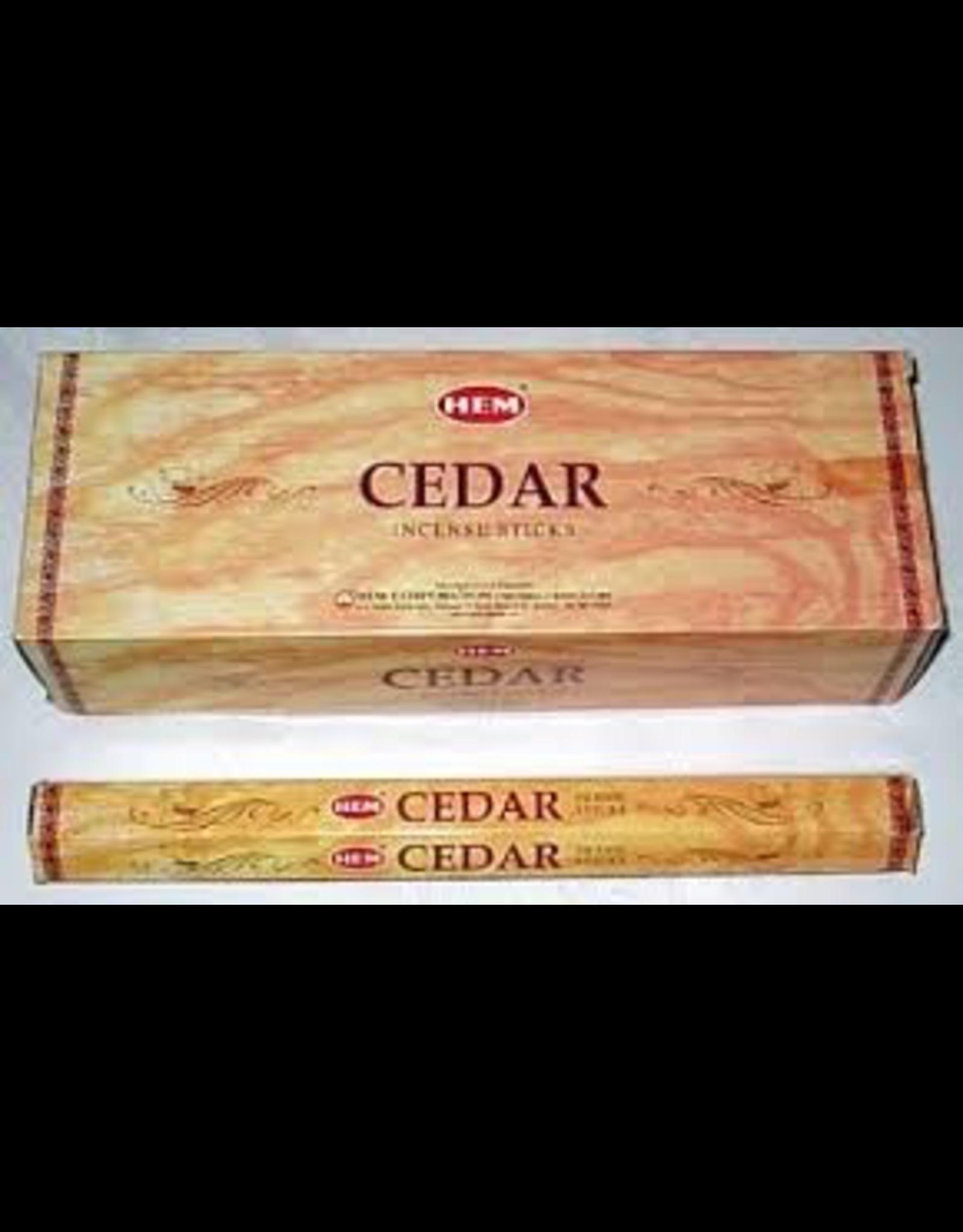 HEM 20 Gram Cedar Hex Box Incense