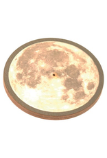 Wooden Round Moon Incense Burner