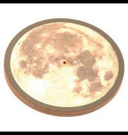Wildberry Wooden Round Moon Incense Burner