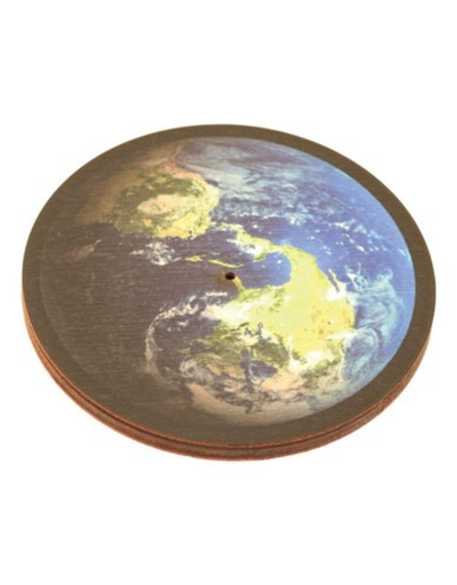Wooden Round Earth Incense Burner