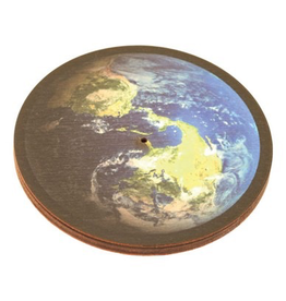 Wildberry Wooden Round Earth Incense Burner