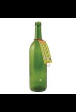Smoking Bottle Plain Green Glass