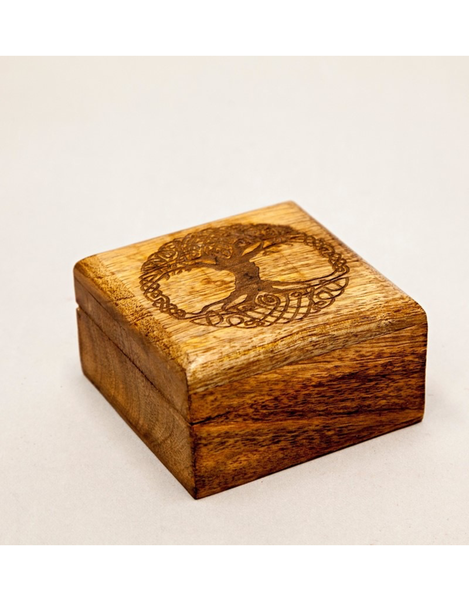 Laser Engraved Celtic Tree Wooden Box