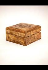 Laser Engraved Ganesha Wood Box