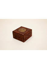 Wooden Box with Brass OM