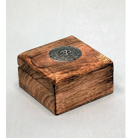 Wooden Box with Metal OM
