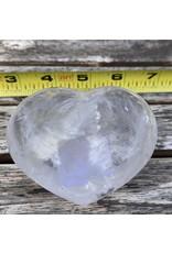 Polished Clear Quartz Heart