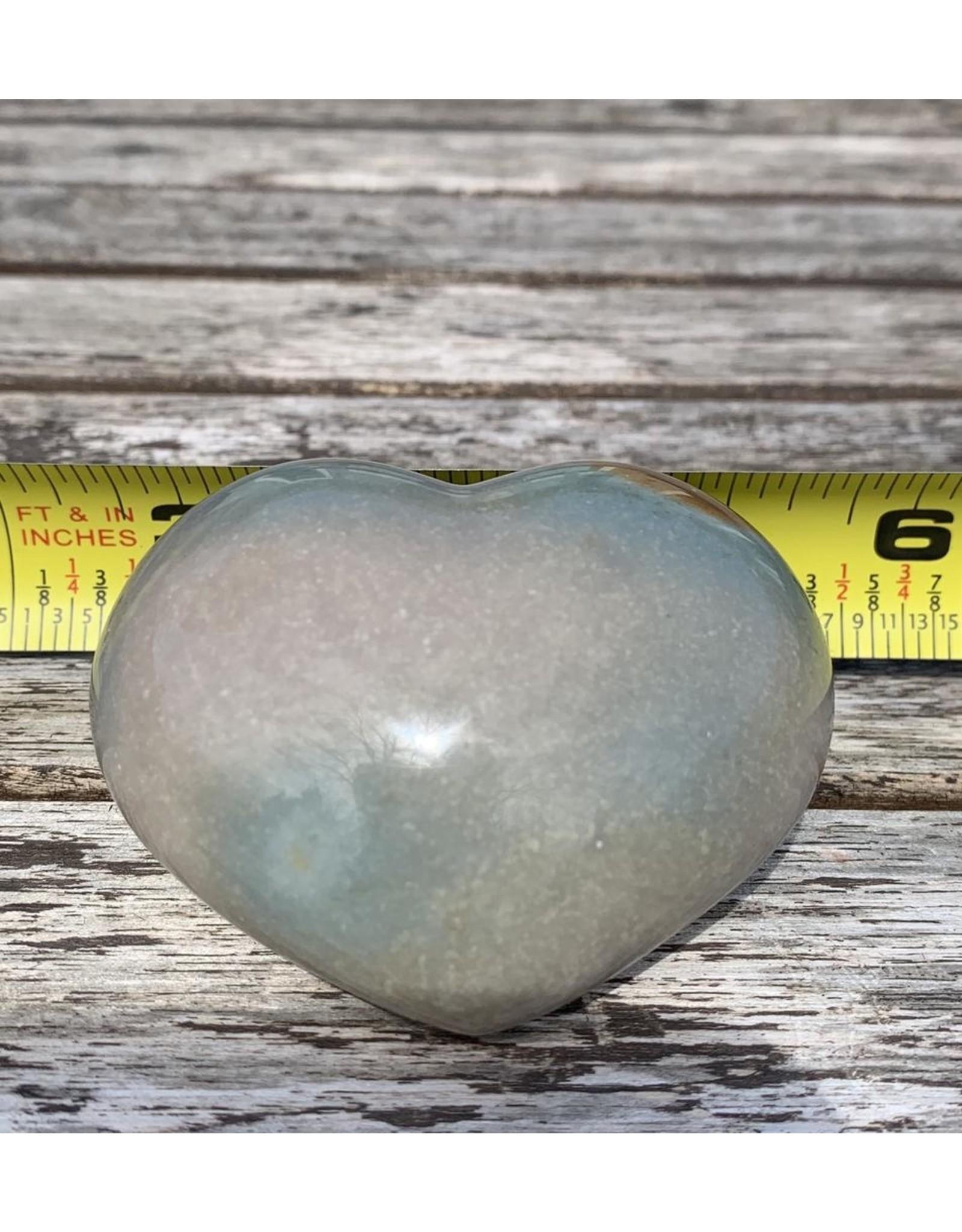 Polished Polychrome Jasper Heart