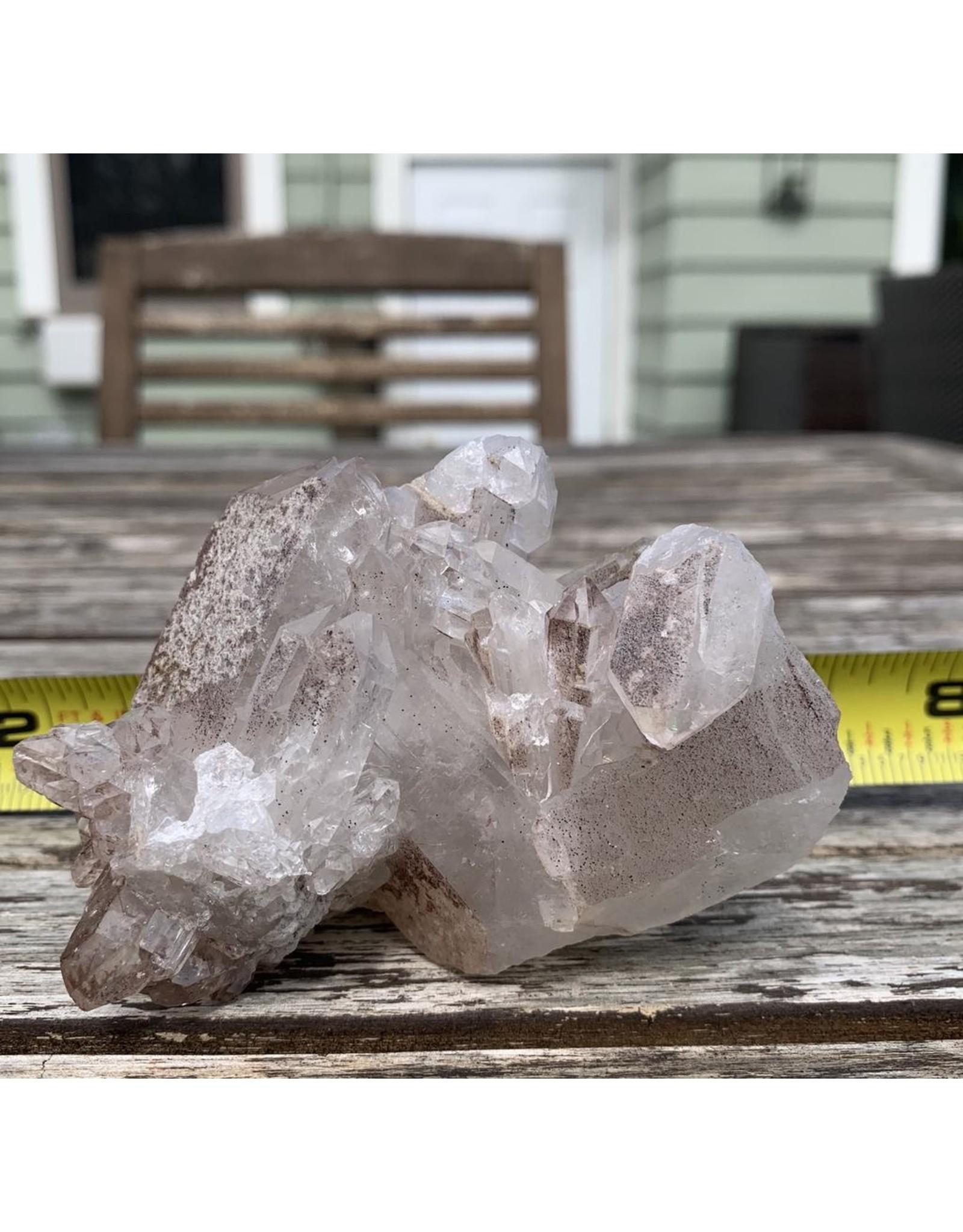 Natural Point Lithium Quartz Cluster
