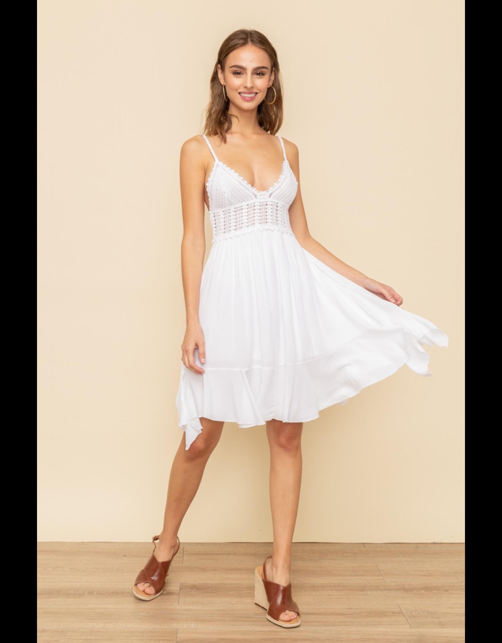 Bralette Ruffle Mini Dress