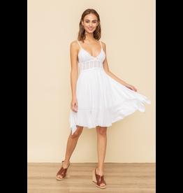 Hem & Thread Bralette Ruffle Mini Dress