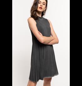 Mockneck Sleeveless Swing Dress