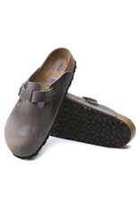 Birkenstock Boston Clog Soft Footbed Iron Oiled Leather