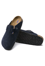 Birkenstock Boston Clog Soft Footbed Night Suede